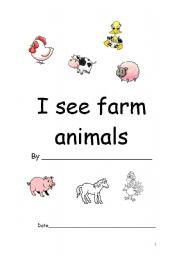 English Worksheets: animals book