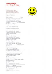 English Worksheet: DON´T WORRY BE HAPPY