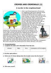 English Worksheet: Crimes and criminals