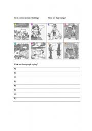 English Worksheets: What are they saying