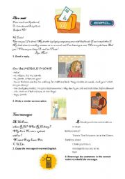 English Worksheets: Communication now