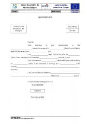 English Worksheets: Application Letter