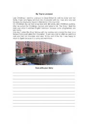English Worksheet: My trip to Liverpool