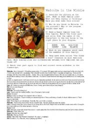 English Worksheet: Malcolm in the Middle_Pilot Episode