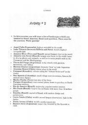 English Worksheets: SCANNING