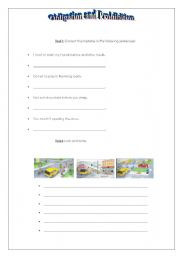 English Worksheet: obligation and prohibition