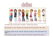 English Worksheet: Clothes - girl�s identification