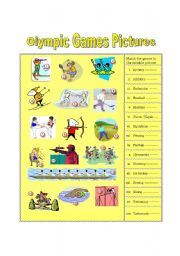 English Worksheet: Olympic Games Pictures (part 1)