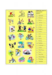 English Worksheet: Olympic Games Pictures (part 2)