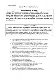 English Worksheet: Gender roles and stereotypes