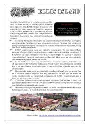 English Worksheets: Ellis Island
