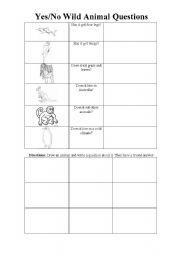 English Worksheets: Wild Animal Questions Page 2