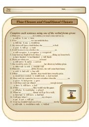 Time Clause and Conditional Clause