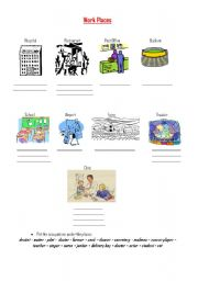 English Worksheet: Jobs / Occupations & Workplaces
