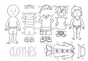 English Worksheets: Clothes with Caillou and Rossie