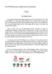 English Worksheet: The Olympic Games