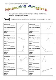 english worksheet measuring angles. Black Bedroom Furniture Sets. Home Design Ideas