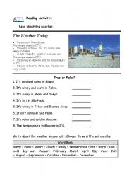 Reading activity: The Weather Today