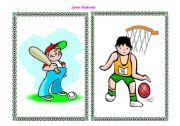 English Worksheet: Sports - flashcards part I