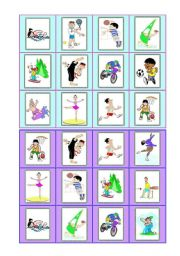 English Worksheets: Sports - bingo cards - part II