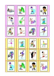English Worksheets: Sports - bingo cards - part III