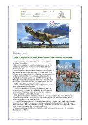 English Worksheet: Dinosaurs