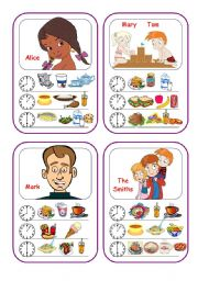 English Worksheet: Food Cards (Part 1 out of 5)