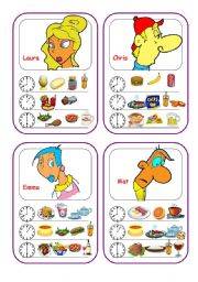 English Worksheets: Food Cards (Part 5 out of 5)