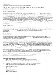 English Worksheet: FRIENDS - The one with the rugby / Unagi / the ball