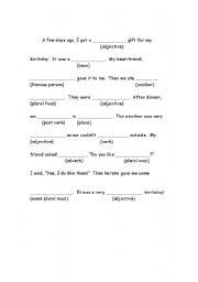 photograph about Mad Libs for Kids Printable referred to as Crazy libs worksheets