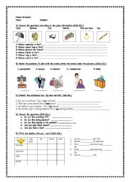 English Worksheets: for fifth classes