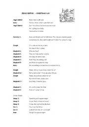 english worksheet a short play christmas