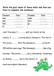English Worksheets: Fill in the Gap
