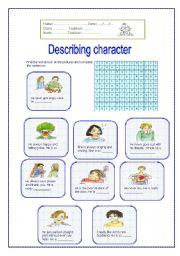 Describing Character