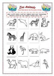 zoo animals esl worksheet by bamarcia. Black Bedroom Furniture Sets. Home Design Ideas