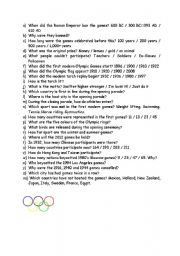 Worksheets gt sports gt olympic games gt olympics mascots and quiz