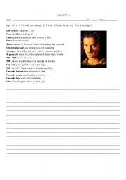 English Worksheets: Orlando Bloom