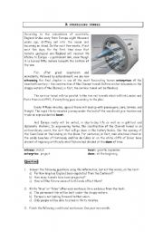 English Worksheets: A surprising tunnel