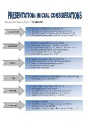 English Worksheet: Presentation - Business English