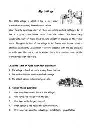 English Worksheets: My Village