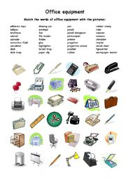 English Worksheets: office equipment