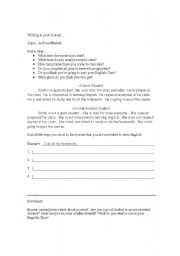 English Worksheets: Are you a good student?  WRITING exercise
