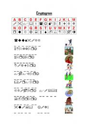 English Worksheets: cryptogram hobbies