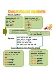 English Worksheet: adjective�s degrees of comparison