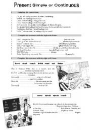 English Worksheets: Present Simple or Continuous