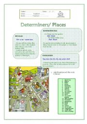 English Worksheets: Determiners/Places