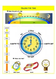 English Worksheet: Telling the time - introduction - part I