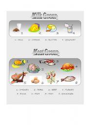 English Worksheet: Food Pyramid - vocabulary 1