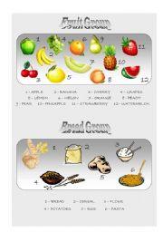 English Worksheet: Food Pyramid - vocabulary 2