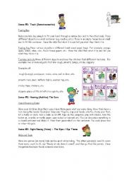 English Worksheets: Five Senses Game
